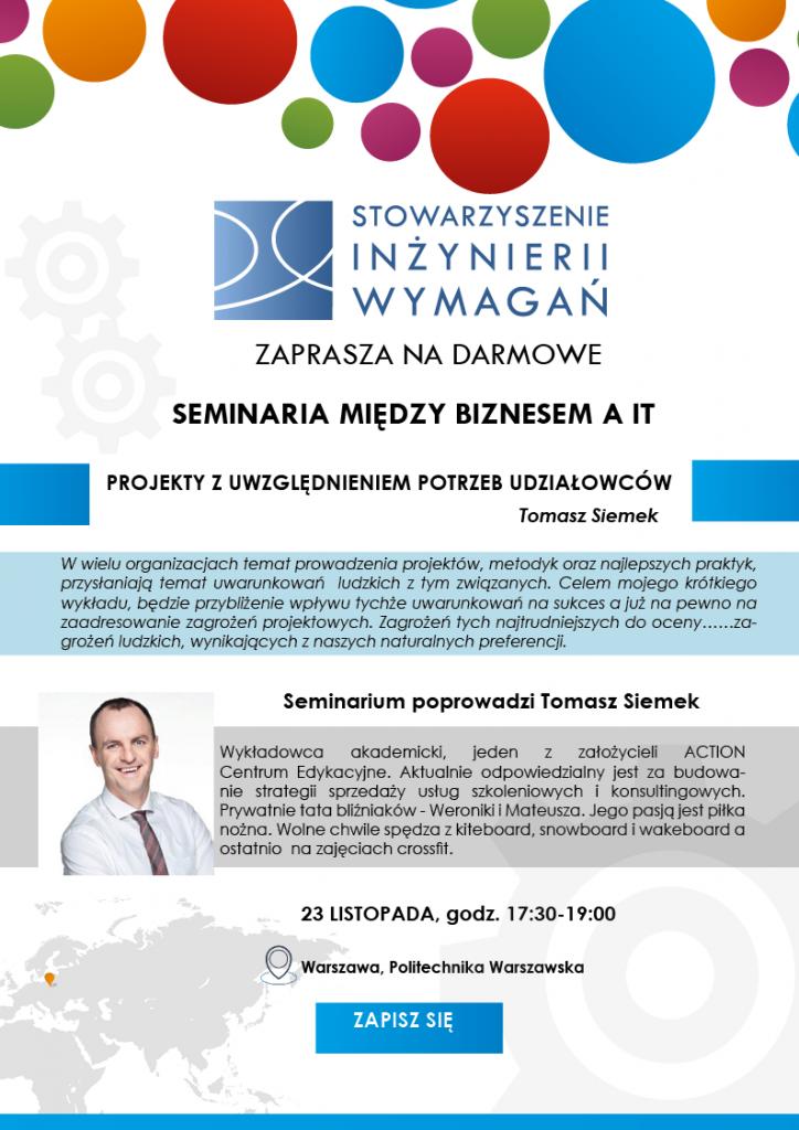 Seminarium Tomasz Siemek