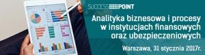 """Jesteśmy patronem konferencji: """"Analityka biznesowa i procesy w instytucjach finansowych i ubezpieczeniowych"""""""